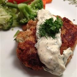 Funco's Salmon Fish Cakes Recipe - Flaked salmon is combined with mashed potatoes, bell pepper, and fresh parsley to make these delicious, crispy, fresh fish cakes.