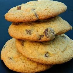 Thick and Chewy Chocolate Chip Cookies Recipe - These not-too-sweet cookies have a double dose of vanilla with a pack of pudding mix and two tablespoons of vanilla extract.