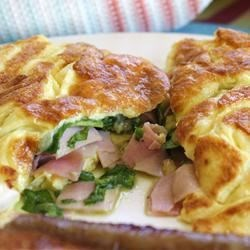 Spinach, Ham and Cheese Omelet