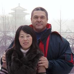 Amy and I in China