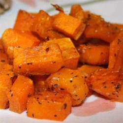 Simple Roasted Butternut Squash Recipe - Roasted butternut squash with garlic is a quick and easy side dish ready in less than an hour for a weeknight or a holiday gathering.