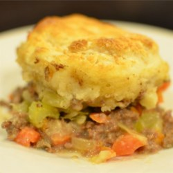 Hamburger Biscuit Retro Casserole