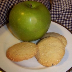 Golden Sesame Cookies Recipe - A light sugar cookie with toasted sesame seeds. To make a double batch, I double all the ingredients but the butter and they still taste delicious.
