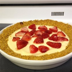 Greek Yogurt Pie in Corn Flake Pie Crust