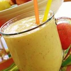Mango-Peach Smoothie Recipe - You can use fresh or frozen fruit in this yummy smoothie.