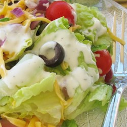 Ranch Dressing II Recipe - This is for those who prefer herbs rather than spice. Creamy and delicious - it is the perfect accompaniment to chicken, ham or crisp salad greens.