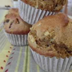 Apple-date muffins (no oil or butter)