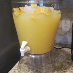 Luau Punch Recipe - Pineapple and orange juices with fizzy citrus soda.