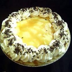 Banana Foster's Cream Pie