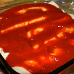 Quick Enchilada Sauce Recipe - Just mix tomato sauce, tomato paste, and some spices together for a quick and very easy enchilada sauce you can whip up at a moment's notice.