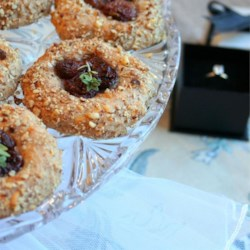 Cheddar Pecan Thumbprints with Thyme Roasted Grapes