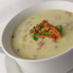 Cindy's Awesome Clam Chowder Recipe - This quick and easy clam chowder, filled with potatoes and bacon is wonderful served with hot sourdough bread.