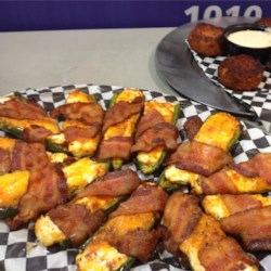 Bookers BBQ Grill and Crab Shack Bacon Wrapped Stuffed Jalapenos