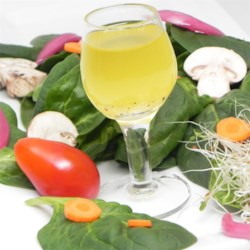 White Wine Vinaigrette Recipe - This vinaigrette is nice and tangy but not overpowering. Perfect with a simple green salad. Can be refrigerated for up to 2 weeks.