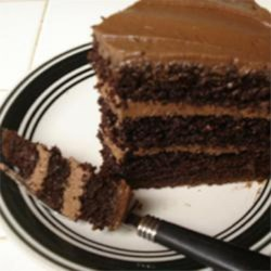 Chocolate Coffee Buttercream Icing Recipe - Strong black coffee and cocoa powder give this buttercream frosting a nice richness perfect for chocolate cake.