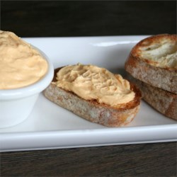 Sharp Cheddar Dip Recipe - This is a recipe I tried at my aunt's house.  It's easy and tasty.  Simply dip the bagel pieces into the dip!  A six-pack of refrigerated soft bagels will work great.