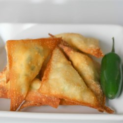 Puffs Recipe and Video - If you like jalapeno poppers, you will love these fried wontons stuffed with cheese and jalapeno!