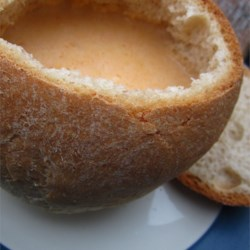 Bread Bowls I Recipe - This recipe is for a hearty, whole wheat bread that that can be used to make a bread bowl. Simply cut off the top, compress the dough to form a bowl and fill it with your favorite stew or spinach dip.