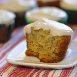 Mari's Banana Cupcakes Recipe - Bananas and buttermilk are folded into cupcake batter creating a moist and fluffy treat.