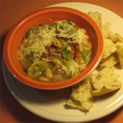 Old World Escarole and Beans Recipe - After searching high and low for a soupy escarole and beans recipe, I finally created my own version. It tastes just like the appetizer I order at one of my favorite Italian restaurants in New York.