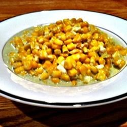 Blue Cheese Garlic Sweet Corn Recipe - When fresh corn becomes available, try this tasty side dish mixing it with blue cheese and garlic.