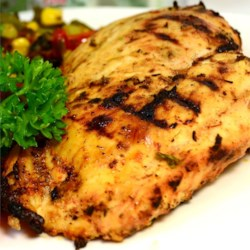 Cajun Chicken Recipe - These spicy Cajun-style grilled chicken breasts are delicious served hot or cold, sliced on Caesar salad, or made into sandwiches.