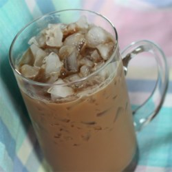 Iced Mocha Cola Recipe - Cola and coffee over ice with a shot of half-and-half delivers a unique spin on iced mocha beverages.