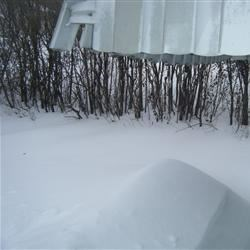 Blizzard 2013---Awning to snow depth!