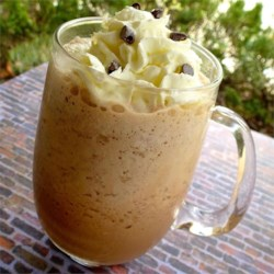 Blended Mocha Drink Recipe - Make your own blended mocha at home with brewed espresso, sweetened condensed milk, whole milk, and chocolate syrup.