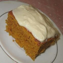 Quick Pumpkin Cake Recipe - Pumpkin cake is a quick and easy dessert made with yellow cake mix and pumpkin puree. Top with a cream cheese frosting!