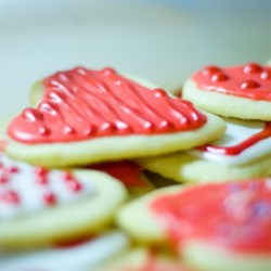 Healthier Sugar Cookie Icing Recipe - This healthier version of sugar cookie icing uses low-fat milk and leaves out the corn syrup, however it stills dries hard and shiny with bright colors.