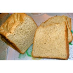 Crusty Potato Bread Recipe - A hearty white bread made in the bread machine with instant potato flakes.