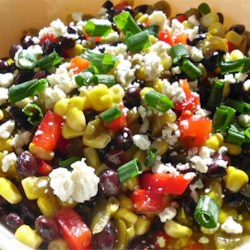 Black Bean and Feta Cheese Ugly Dip Recipe - Black beans and feta are tossed in a simple vinegar-based dressing for a simple and easy party dip.