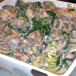 Mushroom Pasta with Shrimp or Chicken
