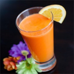Carrot and Orange Juice Recipe and Video - This quick, fresh, and delicious juice is loaded with carrots and oranges, and is a great way to start off your day!