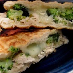 Focaccia Chicken Sandwiches Recipe - This is an easy but delicious chicken and broccoli sandwich that can be served with a salad.