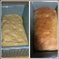 Amish Bread before & after