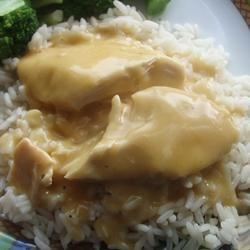Slow Cooker Dump and Go Cheesy Chicken Recipe - Cheddar soup and chicken--dump and go, but do not be late for dinner.