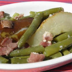 Green Beans and Pears with Bacon