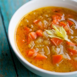 Celery and Carrot Soup Recipe - A simple, quick soup recipe made from carrot, celery, and onion with just a hint of tarragon. Makes an excellent first course!