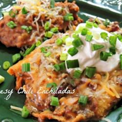 Cheesy Chili Enchiladas