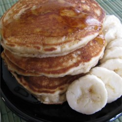 Peanut Butter Banana Pancakes Recipe - Peanut butter and banana is a favorite flavor combination for many. Put it in your pancakes using this recipe.