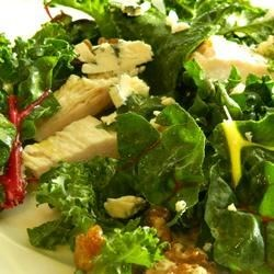 Kale, Swiss Chard, Chicken, and Feta Salad
