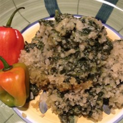 Creamed Spinach with Jalapenos Recipe - You'll love this lightly breaded cheese and spinach dish!