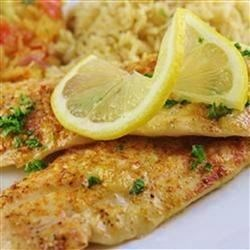 Tilapia Scampi Recipe - This is a simple recipe for tilapia fillets baked in a scampi-inspired sauce.