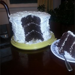 Chocolate Sauerkraut Cake I Recipe - Your guests will never guess that sauerkraut delivers the extra flavor to this chocolate cake with a fluffy and creamy frosting.
