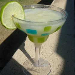 Margaritas with a Bite Recipe - Blend, blend, blend!  These margaritas are great for hot summer days, as they melt slowly staying nice and COLD! Serve with or without salt.
