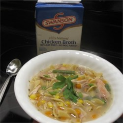 Chicken Noodle and Vegetable Soup Recipe - With only six ingredients Swanson(R) Broth creates a comforting and easy-to-make soup using simple on-hand ingredients.