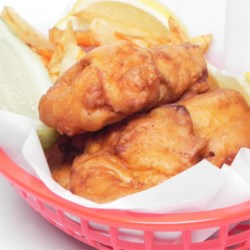 Classic Fish and Chips Recipe and Video - Good tasting, simple recipe for New England's favorite dish fish and chips. Serve with malt vinegar, lemon, or tartar sauce.