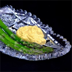 Cold Asparagus with Curry Dip Recipe - A delicious creamy dip for cold or hot asparagus or even artichokes. It is also excellent on potatoes and other veggies.